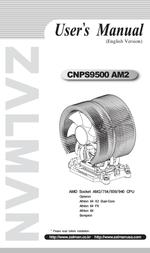 Zalman CNPS9500 AM2 CNPS9500AM2 User Manual