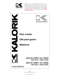 KALORIK Kalorik - Team International Group Slow Cooker usk sc 32553 User Manual