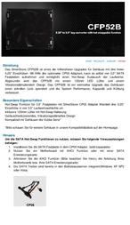 Silverstone SST-CFP52B Data Sheet