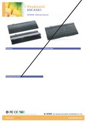 KME KM-X581 Black, USB KLA021330 Leaflet