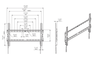 ATHLETIC HF-L Wall bracket for LCD, LED and Plasma TVs HF-L Data Sheet