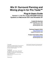 Avid Technology PRO TOOLS MIX 51 User Manual
