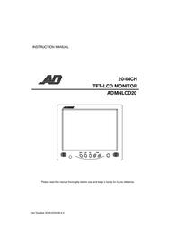 American Dynamics ADMNLCD20 User Manual