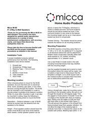 Micca m-8s User Guide