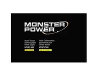 Monster Power MP HT UPS 500 Power Supplies 109152 User Manual
