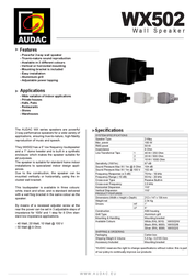 AUDAC WX502 WX502/S Leaflet