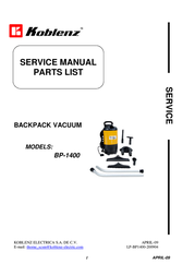 Koblenz BP-1400 User Manual