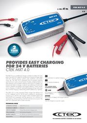 Ctek MXT 4.0 56-733 Leaflet
