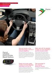 Parrot 3000 EVOLUTION Hands free car kit PF180003AC Leaflet