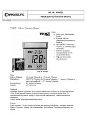 TFA 30.1025 Leaflet