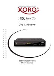 Xoro HRK 8750 CI+ SAT100800 Data Sheet