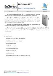 EnGenius EOC-3660 EXT Outdoor 7+1 Multi-Function Access Point 710201GEOC3660 User Manual