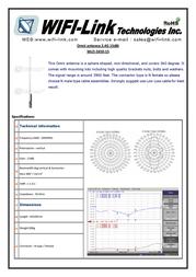 WiFi-Link 2.4GHz Omni antenna with Gain 15dBi WLO-2450-15 Leaflet