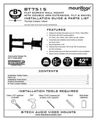 B-Tech LCD Articulating wall mount BT7515 User Manual
