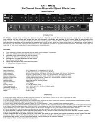 ART mx622 User Manual