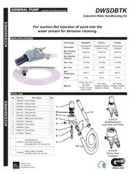 General Pump heavy-duty abrasive blasting kit - 5500 psi - dwsdbtk User Guide