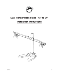 """Siig Dual Monitor Desk Stand - 13"""" to 24"""" CE-MT1712-S1 User Manual"""