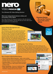 Nero Video Premium HD EMEA-11500000/1174 Leaflet