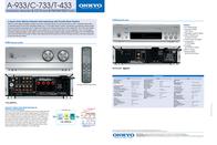 ONKYO C-733 C-733S Leaflet