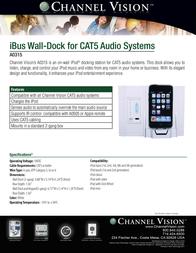 Channel Vision A0315 Leaflet