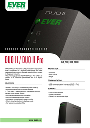 Ever 1000VA UPS Duo II T/DII0TO-001K00/00 User Manual