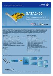 Sunix SATA2400 Leaflet