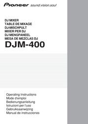 Pioneer Professional DJ Mixer DJM-400 DJM400 User Manual