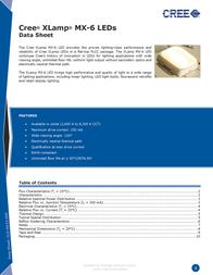 Cree MX6AWT-H1-0000-000BE5 Neutral white High Power LED, MX6AWT-H1-0000-000BE5 Data Sheet