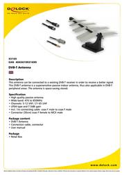 DeLOCK DVB-T Antenna 93169 Leaflet