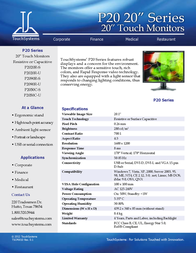 TouchSystems P2020R-S Leaflet