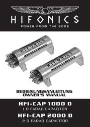Hifonics CAP1000D User Manual