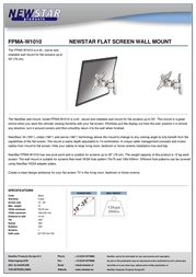 Newstar LCD/LED/TFT wall mount FPMA-W1010 Leaflet