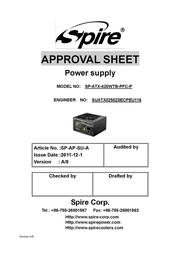 Spire Jewel ECO 420W SP-ATX-420WTB-PFC-P User Manual
