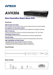 AVTECH AVH306 Leaflet