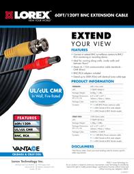 Lorex Technology CBLB60U Leaflet