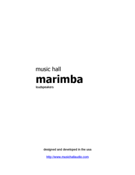 Music Hall Marimba 2-Way Black Bookshelf Speakers Marimba User Manual