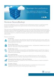 Norman SecureBackup N-SBACKUP50 Leaflet