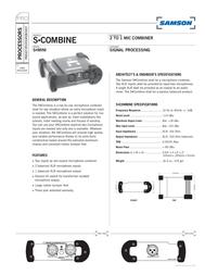 Samson S-combine 2 to 1 Microphone Combiner SASCOMB Leaflet