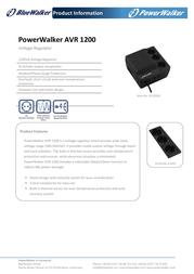 BlueWalker Powerwalker AVR1200 10120302 Leaflet