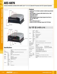 AAEON AEC-6876 TF-AEC-6876-A1-1010 Leaflet