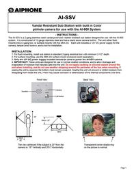 Aiphone AI-SSV Leaflet