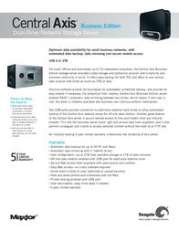 Maxtor Central Axis STM320005CDA00G-RK Leaflet
