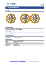 Draka Orange 1001032-00250BR Data Sheet