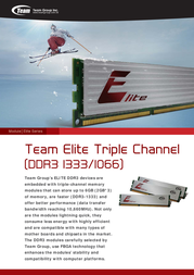 Team Group Elite Ram TED33G(M)1333HC9TC01 Leaflet