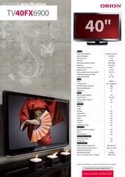 Orion TV40FX6900 Leaflet