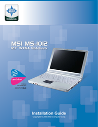 MSI MS-1012 White 1012W-013 User Manual