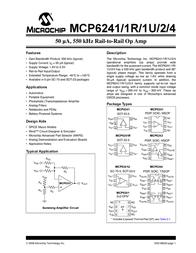 Microchip Technology MCP6241-E/SN Linear IC SOIC-8 MCP6241-E/SN Data Sheet