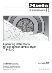 Miele T 8423 C T8423C User Manual
