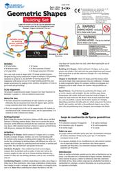 Learning Resources Learning Resources, Inc. Handheld Game System LER 1776 Leaflet