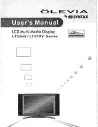 Olevia LT37HVS User Manual